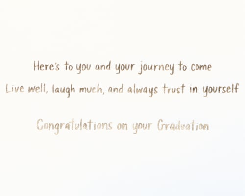 Papyrus Graduation Card (Better Things Ahead) Perspective: right