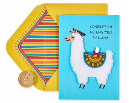 Papyrus Graduation Card (Dip-llama) Perspective: right