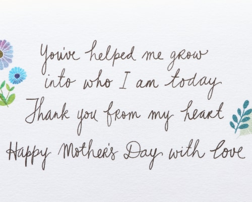 Papyrus Mother's Day Card (Helped Me Grow) Perspective: right