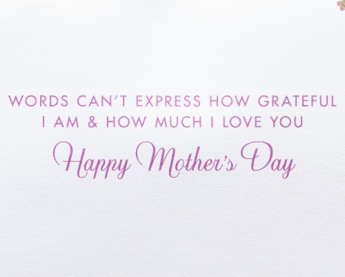 Papyrus Mother's Day Card (Floral Lettering) Perspective: right