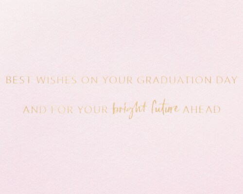 Papyrus Graduation Card (Floral Cap) Perspective: right