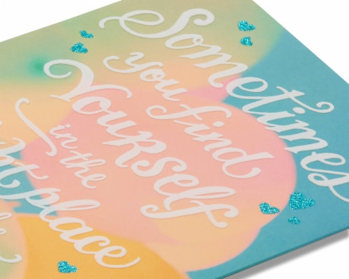 American Greetings Romantic Birthday Card (Right Place Right Time) Perspective: right