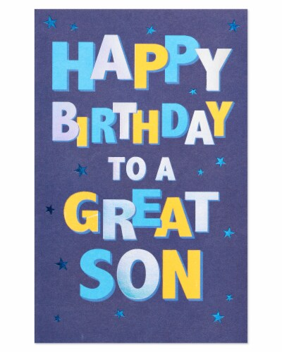 American Greetings Birthday Card for Son (Celebrate) Perspective: right