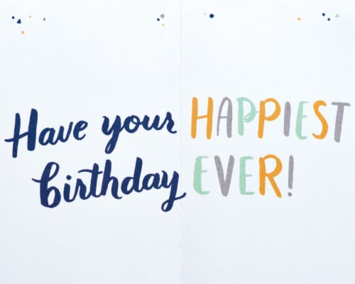 American Greetings #31 Birthday Card (Happy) Perspective: right