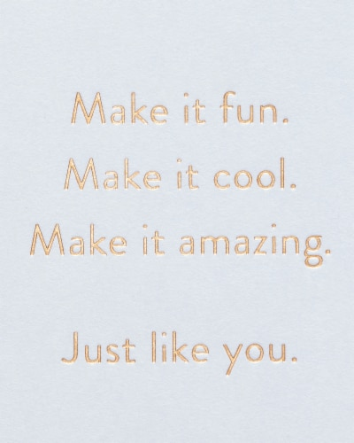 American Greetings #64 Birthday Card (Make it Amazing) Perspective: right
