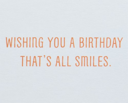 American Greetings #62 Birthday Card (Smiley Faces) Perspective: right