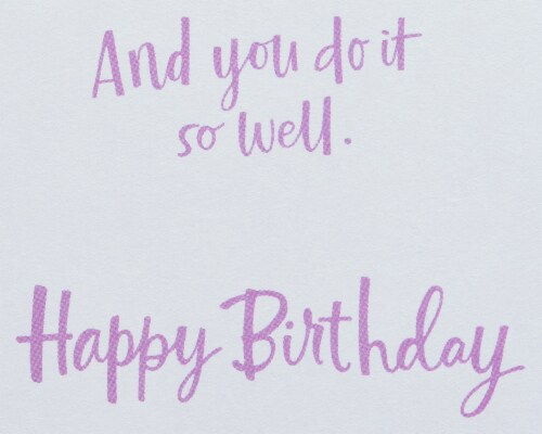 American Greetings #21 Birthday Card (Glad You Exist) Perspective: right