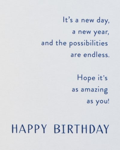 American Greetings #60 Birthday Card (Make a Wish) Perspective: right