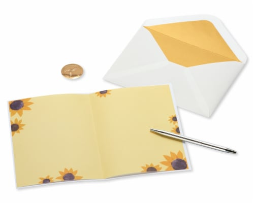 Papyrus #46 Thinking of You Card (Sunflower Girl) Perspective: right