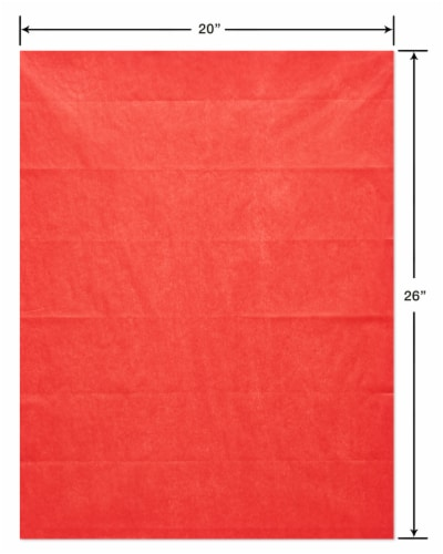 American Greetings #12 All Occasion Red Tissue Paper Perspective: right