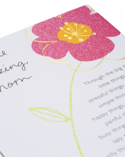 American Greetings Birthday Card for Mom (Floral You're Amazing) Perspective: right