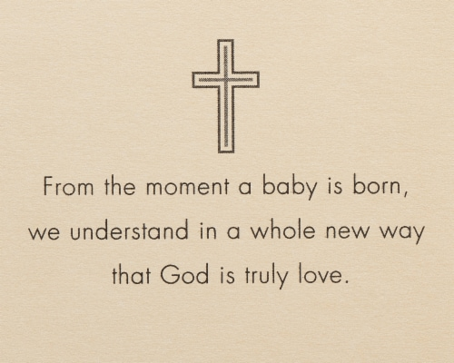 American Greetings Baby Baptism Card (Piece of Heaven) Perspective: right