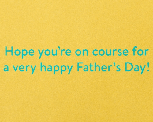 Papyrus Father's Day Card (Golf Cart) Perspective: right