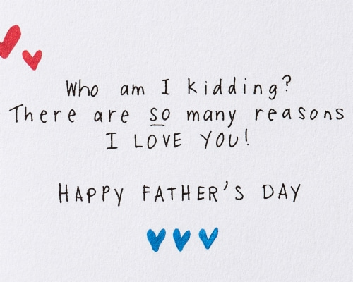 Papyrus Father's Day Card for Husband (Why I Love You) Perspective: right