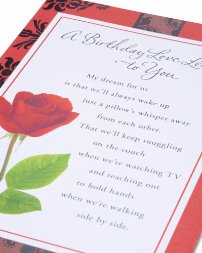 American Greetings Birthday Card (Love Letter) Perspective: right