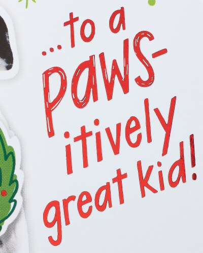 American Greetings Christmas Card (Happy Howl-idays) Perspective: right