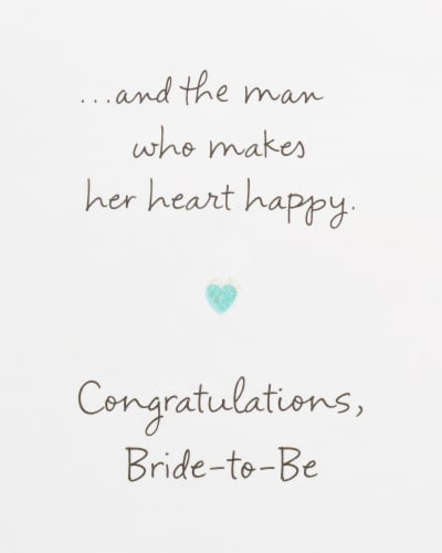 American Greetings Bridal Shower Card (Amazing Woman) Perspective: right