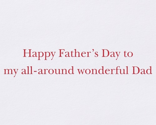 Papyrus #57 Father's Day Card (Wonderful Dad) Perspective: right