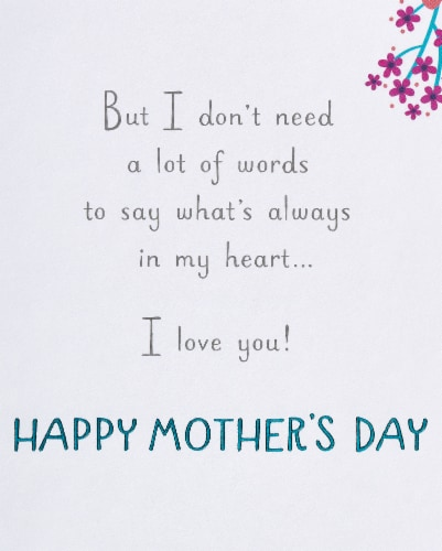 American Greetings #59 Mother's Day Card (Wonderful Mother) Perspective: right
