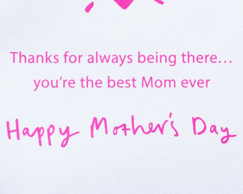 Papyrus #57 Mother's Day Card (Never Too Old) Perspective: right
