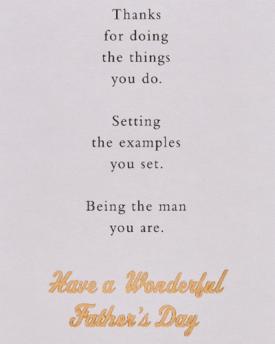 American Greetings #64 Father's Day Card (Amazing Dad) Perspective: right