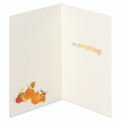 American Greetings Thinking of You Card, 6-Count (Leaves and Pumpkins) Perspective: right