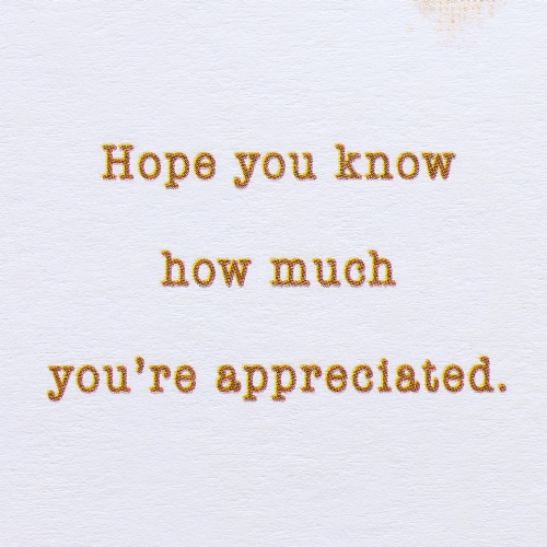 American Greetings Thank You Card (All the Difference) Perspective: right