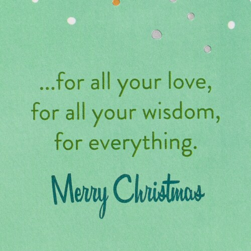 American Greetings Thanks Christmas Greeting Card For Dad Perspective: right