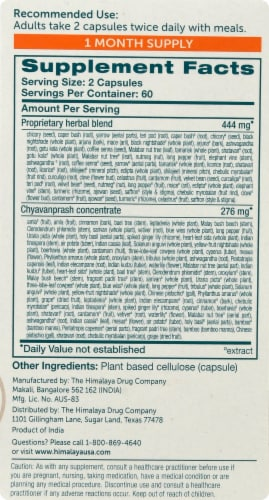 Himalaya Herbal Healthcare StressCare Herbal Supplement Vegetarian Capsules Perspective: right