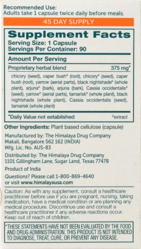 Himalaya Herbal Healthcare LiverCare Herbal Supplement Vegetarian Capsules Perspective: right