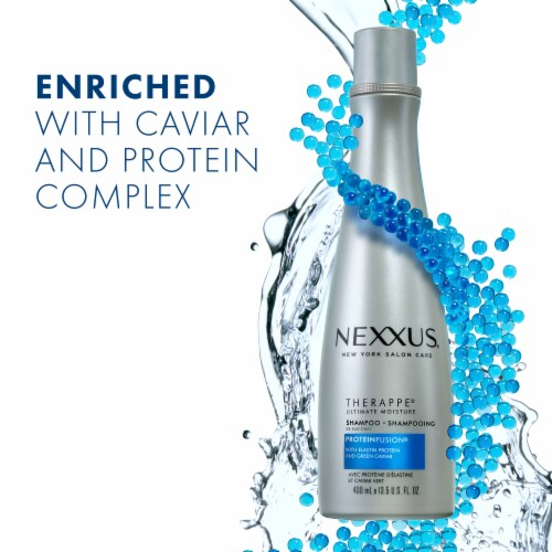 Nexxus Silicone-Free Therappe Ultimate Moisture ProteinFusion Shampoo for Dry Hair Perspective: right