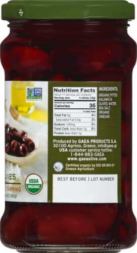 Gaea Organic Pitted Kalamata Olives Perspective: right
