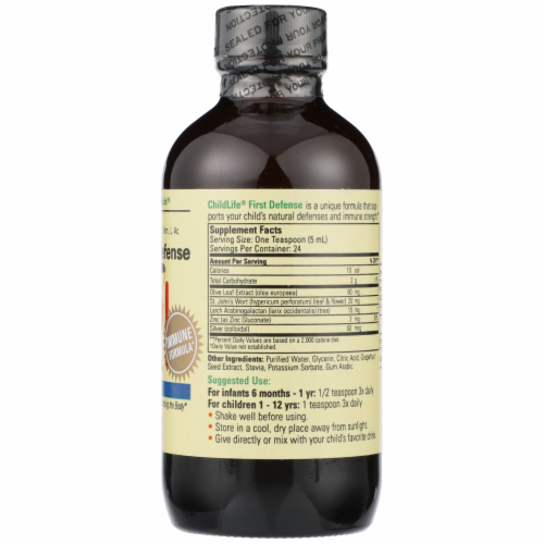Child Life First Defense Immune Support Liquid Perspective: right