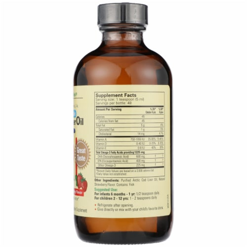 ChildLife Natural Strawberry Flavor Pure Arctic Cod Liver Oil Perspective: right