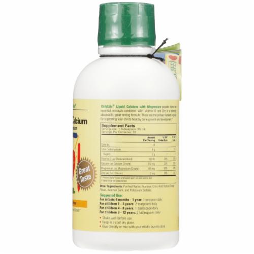 Child Life Natural Orange Flavor Liquid Calcium With Magnesium Perspective: right