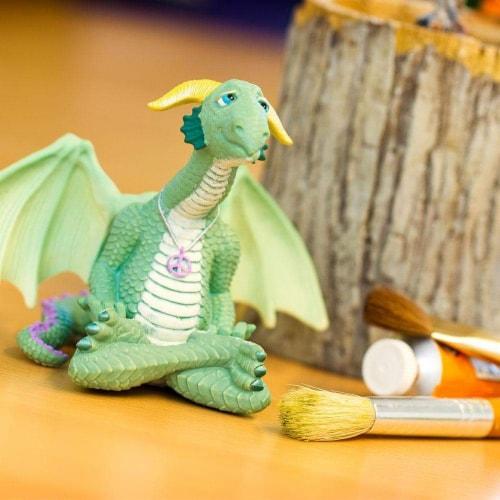 Safari 10153 Peace Dragon Figurine, Multi Color Perspective: right