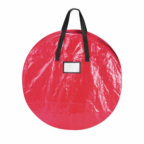 Christmas Tree and Wreath Storage Bag Organizers Zipper with Handles Red Perspective: right