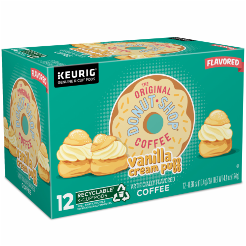 The Original Donut Shop Vanilla Cream Puff Coffee K-Cup Pods Perspective: right