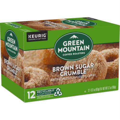 Green Mountain Coffee Brown Sugar Crumble Donut Flavored Coffee K-Cup Pods Perspective: right