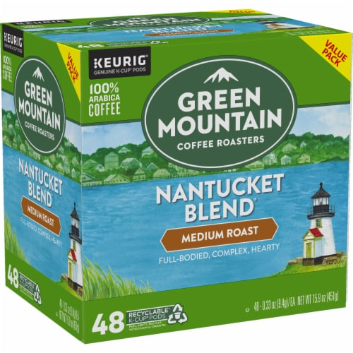 Green Mountain Coffee Roasters Nantucket Blend Medium Roast Coffee K-Cup Pods Perspective: right