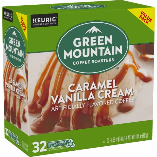 Green Mountain Coffee Caramel Vanilla Cream Coffee K-Cup Pods Perspective: right