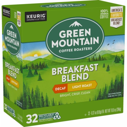Green Mountain Coffee Roasters Breakfast Blend Decaf Light Roast K-Cup Pods Perspective: right