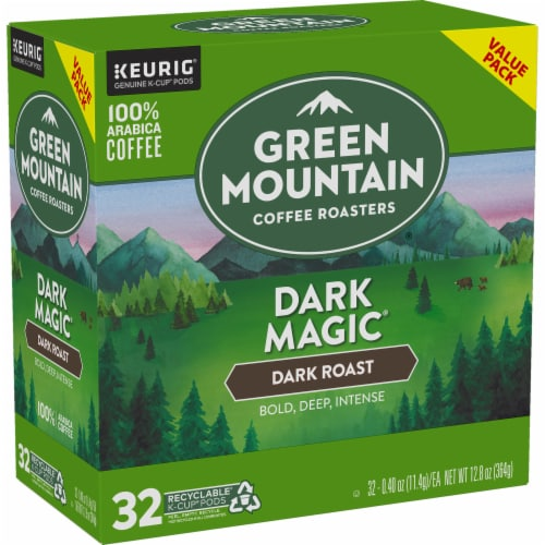 Green Mountain Coffee Dark Magic Dark Roast K-Cup Pods Perspective: right