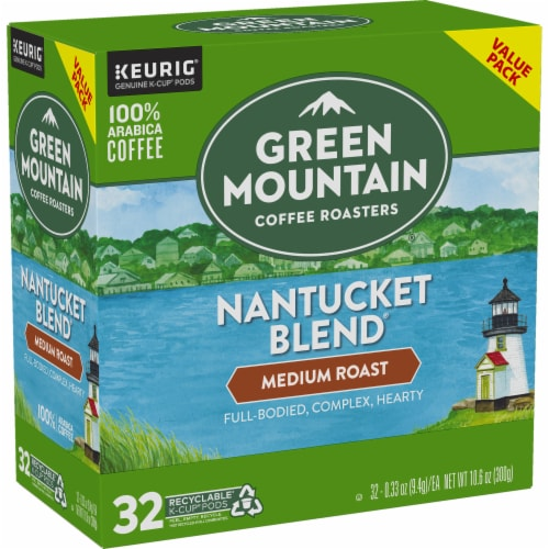 Green Mountain Coffee Nantucket Blend Medium Roast K-Cup Pods Perspective: right