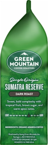Green Mountain Sumatra Reserve Ground Coffee Dark Roast Perspective: right