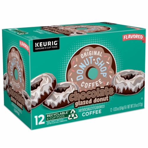 The Original Donut Shop Chocolate Glazed Donut Medium Roast Coffee K- Cup Pods Perspective: right