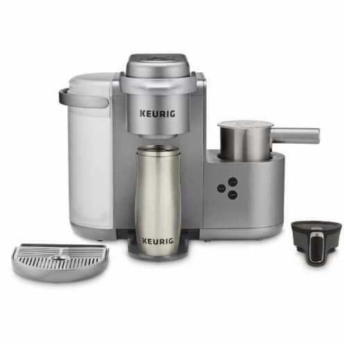 Keurig® K-Café Single Serve Coffee Latte and Cappuccino Maker - Nickel Perspective: right
