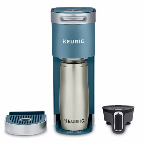 Keurig® Mini Plus Coffee Maker - Evening Teal Perspective: right