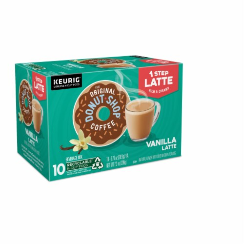 The Original Donut Shop Vanilla Latte K-Cup Pods Perspective: right