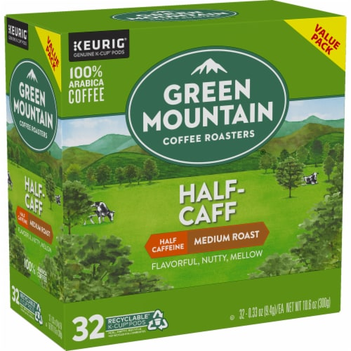 Green Mountain Coffee Half-Caff Medium Roast K-Cup Pods Perspective: right